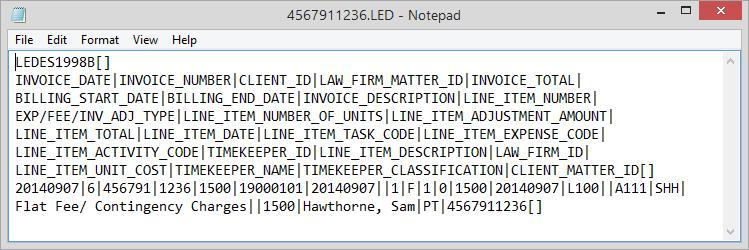 LED File - Ledes invoice generator