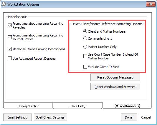 Configuring LEDES B Billing - Ledes invoice generator