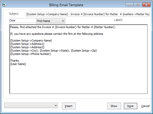 Changing The Billing Email Template - Invoice email format
